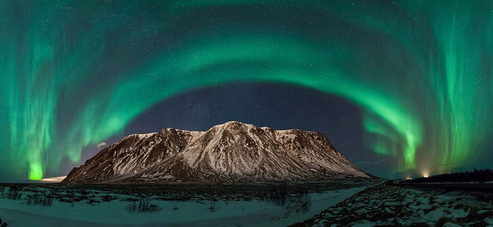 """Northern Lights over the Milky Way"". Foto de Adriano Neves/Sony World Photography Awards/WENN.com."